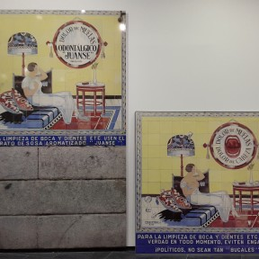 Carlos Garaicoa, Cerámicas porno-indignadas (Política bucal), 2014 Díptico. Impresión digital en frío sobre cerámica 171 x 180 x 3 cm Impresión Ilfordjet montada y laminada en aluminio 279 x 178 cm