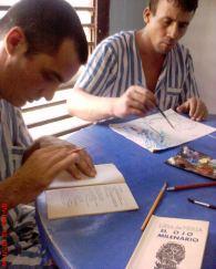 """Taller de creación. Diseños manuales para el poemario """"El ojo milenario """"(Editorial Sed de Belleza, 1995), de Lina de Feria.©YOB"""