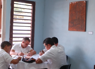 Obra donada, Biblioteca, Hospital Psiquiátrico. Autor: Amilkar Chacón Iznaga