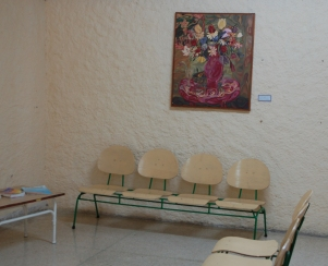 Obra donada, Recepción Hospital Psiquiátrico. Autor: Frank Michel Jonshon Pedro