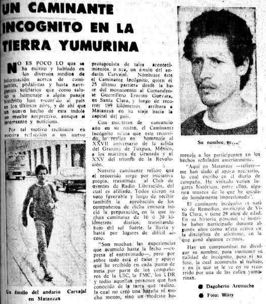 Periódico Girón, Matanzas, 4 de diciembre de 1983.