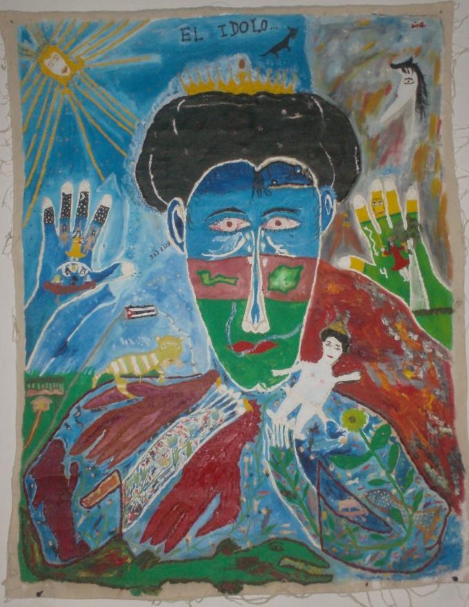 El ídolo(2010),óleo sobre lienzo, 100x80cm