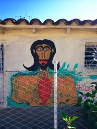 Pintura Mural, exterior de su casa. Boffill (Fotog: Florencia Bisagno)