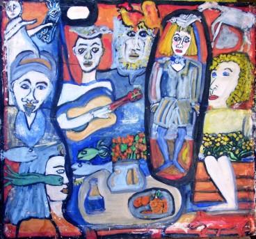 Sin título, Nivia de Paz, mixta sobre cartulina,35 x47cm