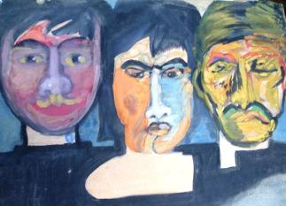 Tres mujeres(1991), acuarela sobre cartulina, 29x34,5cm
