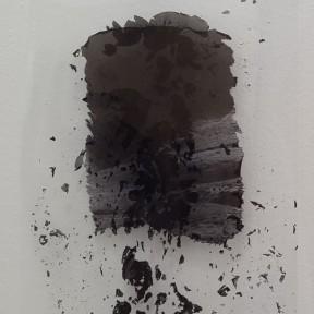 Cecilia de Val, Ruina #30 , Serie El Monte Perdido, Tinta pigmentada sobre acetato, 30x21cm
