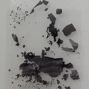 Cecilia de Val, Ruina #6, Serie El Monte Perdido, Tinta pigmentada sobre acetato, 30 x 21cm