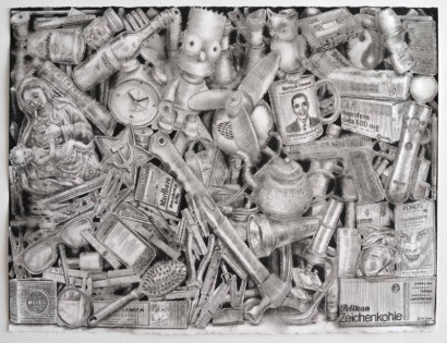 142. lápiz de acuarela sobre papel. 250 x 70 cm. 2013. ©Jairo Alfonso