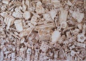 176. lápiz de acuarela sobre papel, 140 x 200 cm. 2011. ©Jairo Alfonso