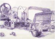 TELEFUNKEN I.lápiz de acuarela sobre papel . 100 x 140 cm. 2012. ©Jairo Alfonso