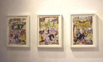 Expo Looney World, LPC y Miguel Ángel Fúnez, Galería Blanca Soto,2017