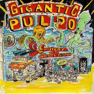 Gigantic Pulpo, Serie Viva la Verbena, mixta sobre papel, LPC, 2005