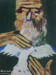 Buscando la paz(2008)mixta sobre cartulina, 46 x 35cm