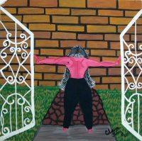 Clara Ortiz, S:T, Mixta sobre cartulina,39 x 35cm,2001