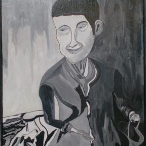 Joaquin Morales, Humildad(2010),mixta sobre lienzo,60 x 45cm