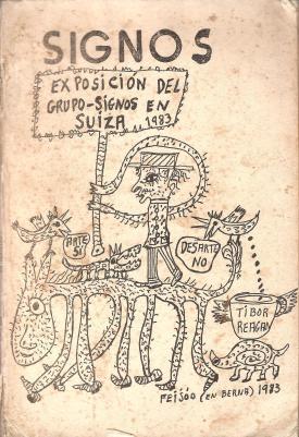 Portada de la revista Signos, dedicada a la muestra del Grupo Signos en el Museo de Art Brut de Lausanne, Suiza